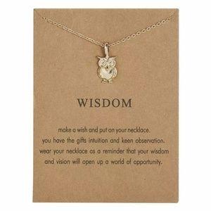 Jewelry - Cute Owl Necklace Wisdom